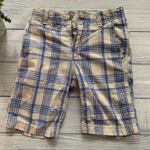 Gap Adjustable Waist Blue Plaid Shorts Size 8 💙